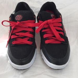 Black-Red Heeleys: Size 38 EU / 6 US Youth